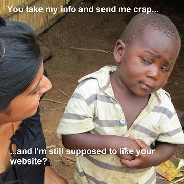 Skeptical Website User