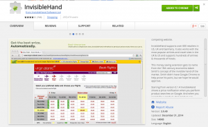 InvisibleHand   Chrome Web Store